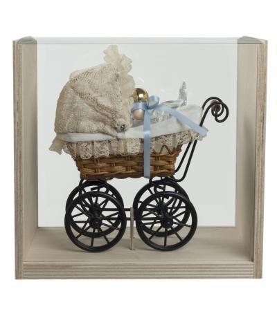 Kinderwagen mit Baby 100ml blau